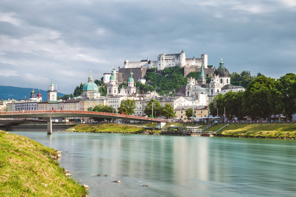 Panoramic view of beautiful Salzburg in Austria Stock photo © tommyandone