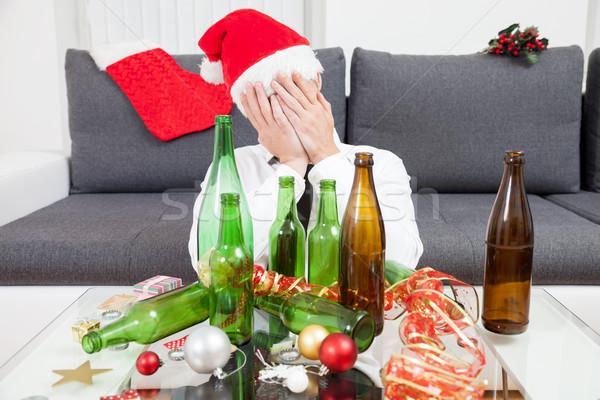 Stok fotoğraf: Içme · Noel · zaman · yılbaşı · parti · şarap