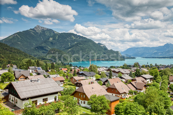 деревне Австрия домой красоту лет зеленый Сток-фото © tommyandone