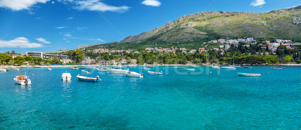 Coastal town Mliny located close to Dubrovnik, Croatia Stock photo © tommyandone