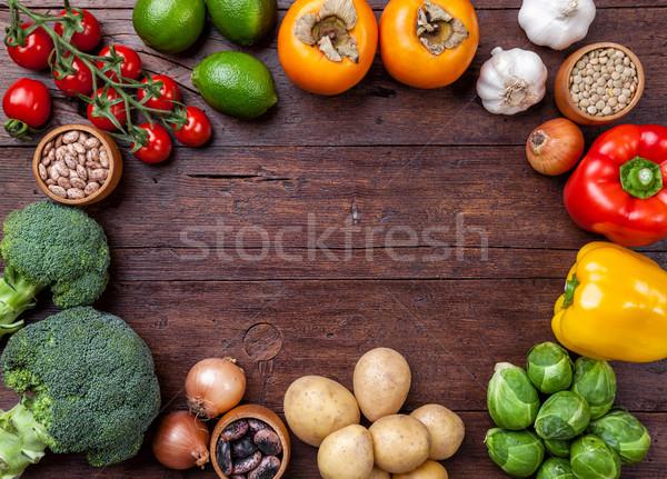 Foto stock: Fresco · saudável · orgânico · legumes · comida · ingredientes