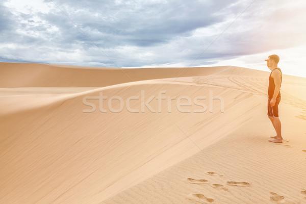 Foto stock: Areia · branca · Vietnã · famoso · natureza · verão · areia