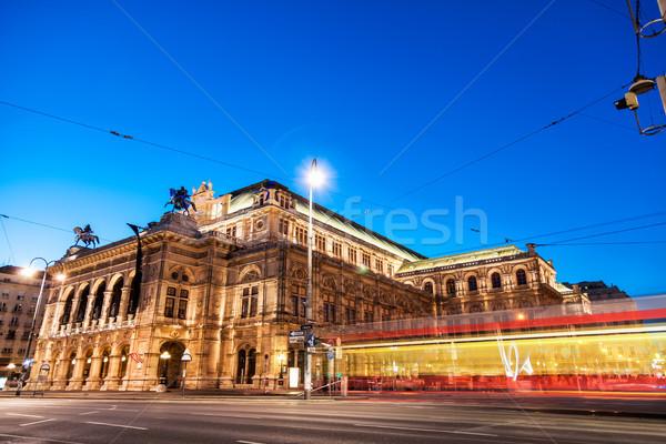 Opéra Vienne Autriche nuit célèbre musique Photo stock © tommyandone