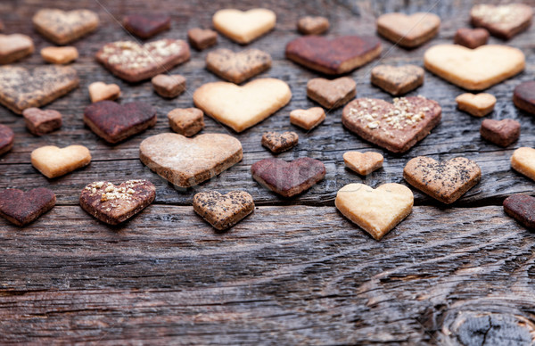 Delicious heart shaped cookies baked with love  Сток-фото © tommyandone