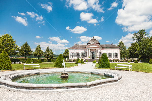 Famous Melk Abbey garden pavilion in lower Austria Stock photo © tommyandone