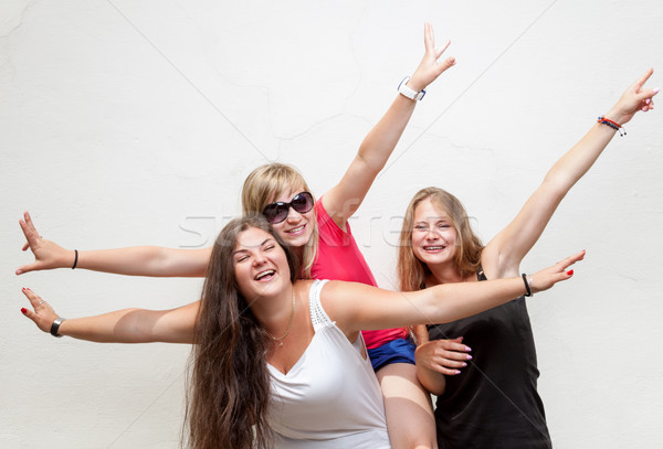 Group of young carefree friends Stock photo © tommyandone