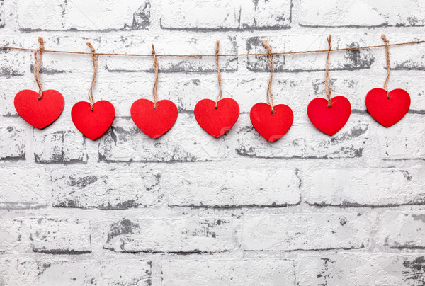 Love concept. Hearts on a string Stock photo © tommyandone