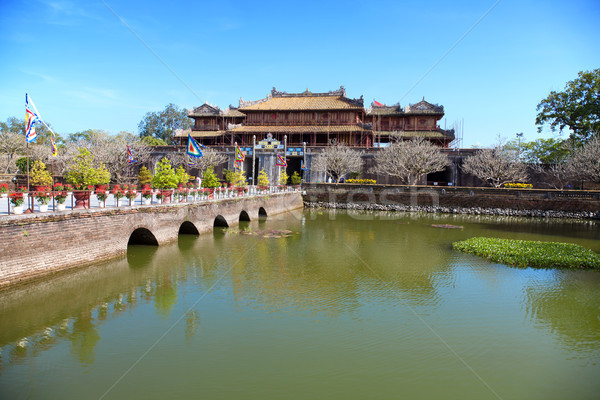Forbidden city Hue, Vietnam Stock photo © tommyandone