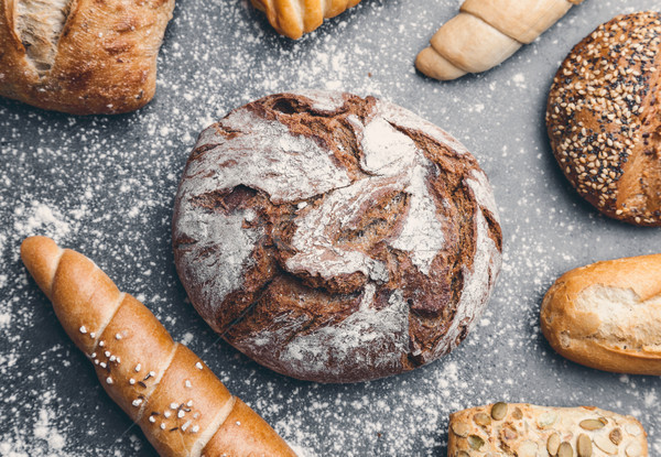 Választék finom friss egészséges kenyér frissen Stock fotó © tommyandone