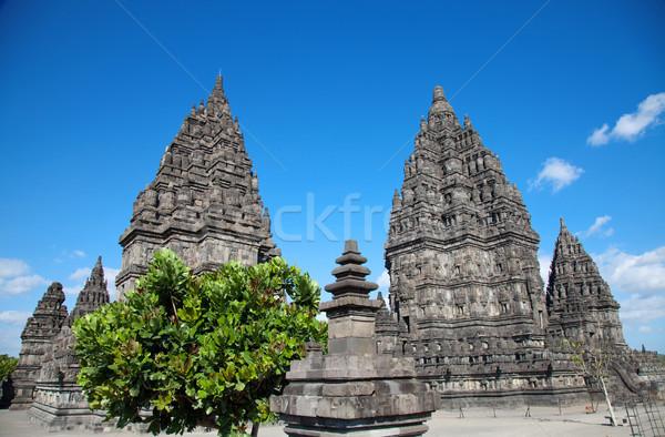 Tempel reizen steen aanbidden asia foto Stockfoto © tommyandone