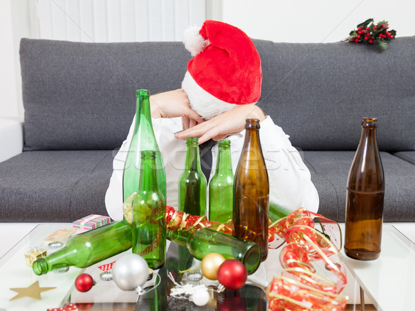 Stock photo: Drinking too much during Christmas time