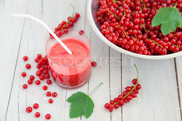 Fresh and healthy red currant smoothie  Stock photo © tommyandone