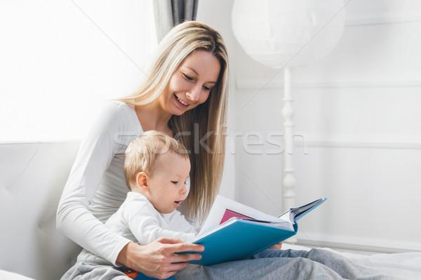 Сток-фото: ребенка · образование · счастливым · матери · сидят