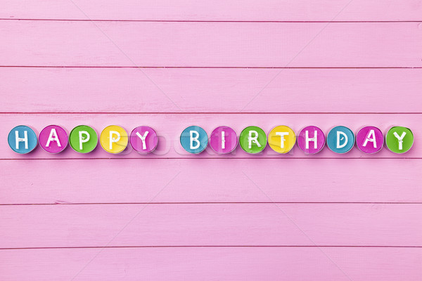 Stock photo: Colorful Happy Birthday background