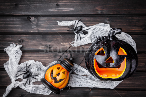 Traditionnel effrayant halloween vacances feu Photo stock © tommyandone