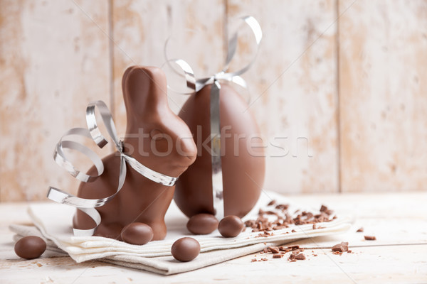 Сток-фото: шоколадом · Пасхальный · заяц · яйца · сезонный · Пасху