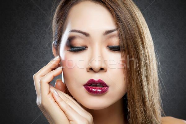 Thai szépség tökéletes bőr sötét nő Stock fotó © tommyandone