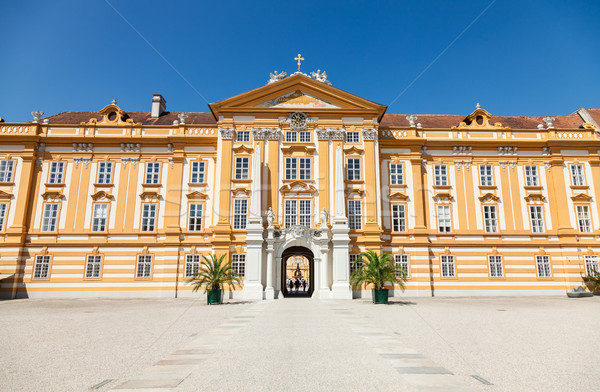 Famous Melk Abbey on Danube river in lower Austria Stock photo © tommyandone