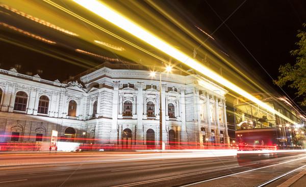 Burgtheater in Vienna Austia at night Stock photo © tommyandone