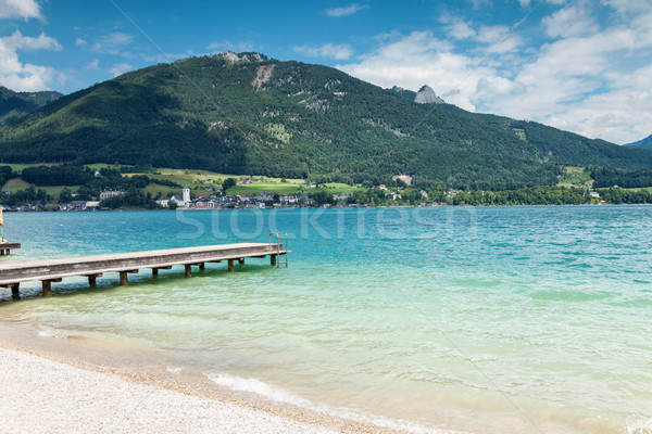 Wolfgangsee lake with turquoise waters in Austria Stock photo © tommyandone