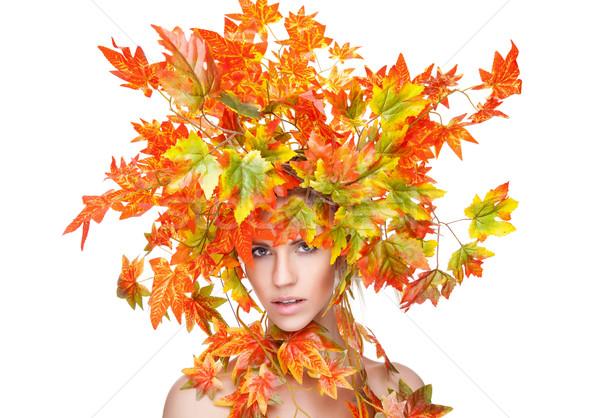 Bella autunno donna faccia moda Foto d'archivio © tommyandone