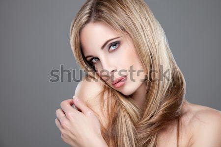 Portre güzel bir kadın güzellik moda sağlık renk Stok fotoğraf © tommyandone