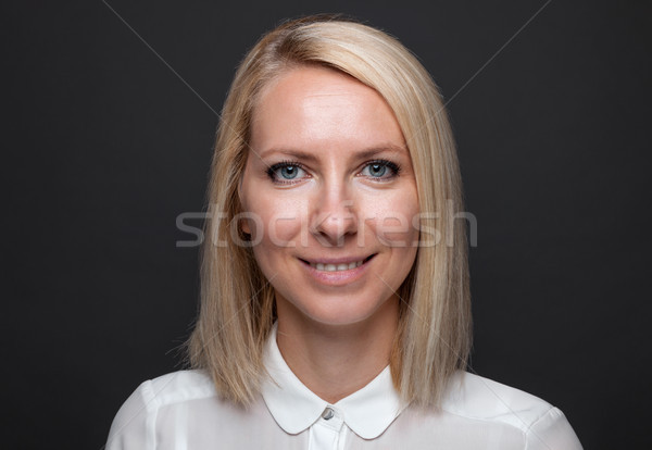 Headshot of young and happy business woman  Stock photo © tommyandone