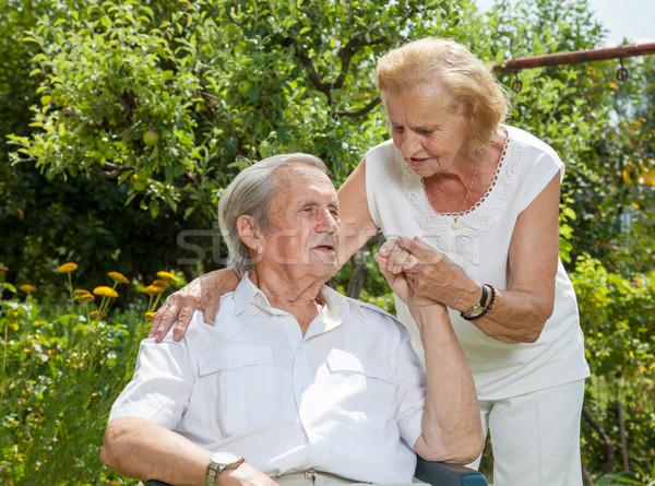 Photo stock: âgées · couple · vie · ensemble · femme