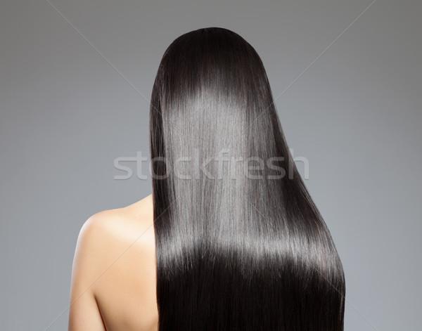 Lang steil haar achteraanzicht vrouw meisje mode Stockfoto © tommyandone