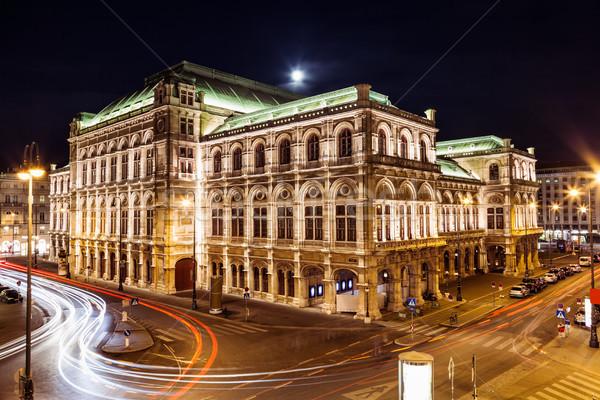 ópera Viena Áustria noite famoso música Foto stock © tommyandone