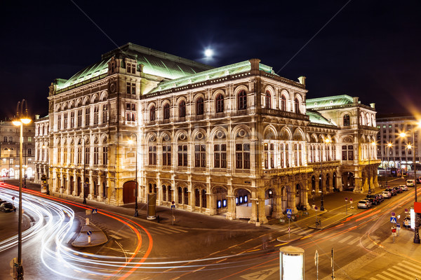 State Opera in Vienna Austria at night Stock photo © tommyandone