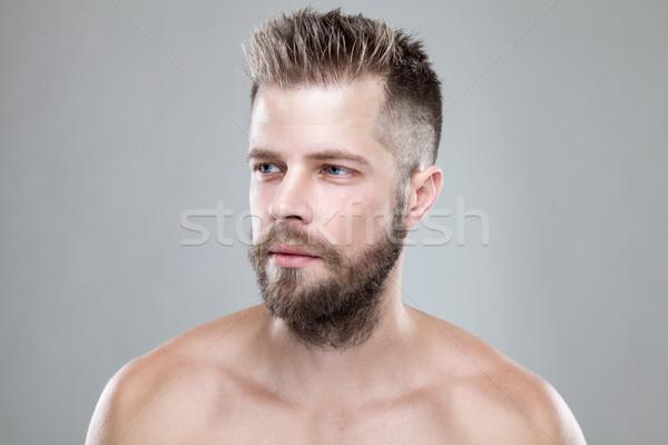 Ritratto giovani barbuto uomo nuovo capelli Foto d'archivio © tommyandone