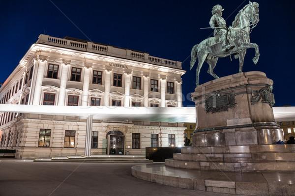 Múzeum Bécs éjszaka Ausztria épület város Stock fotó © tommyandone