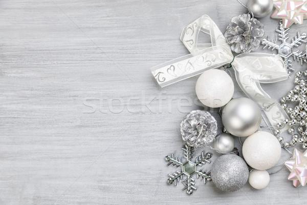 Christmas dekoracji tle przestrzeni dar Zdjęcia stock © tommyandone