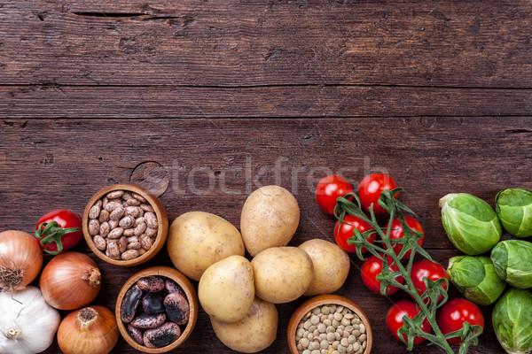 新鮮な 健康 オーガニック 野菜 食品 材料 ストックフォト © tommyandone