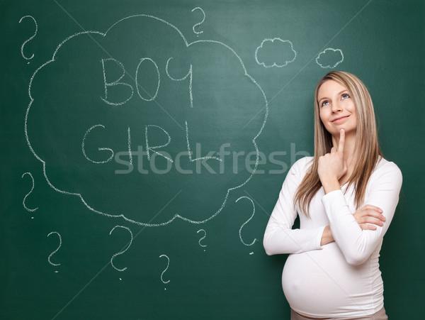 Nombre bebé mujer embarazada elegir Foto stock © tommyandone