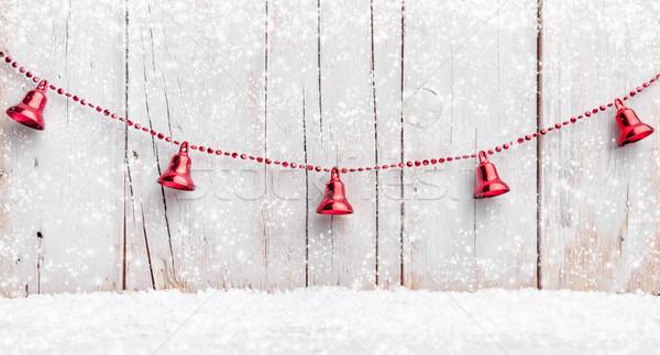 Noël décoration neige traditionnel hiver rétro Photo stock © tommyandone