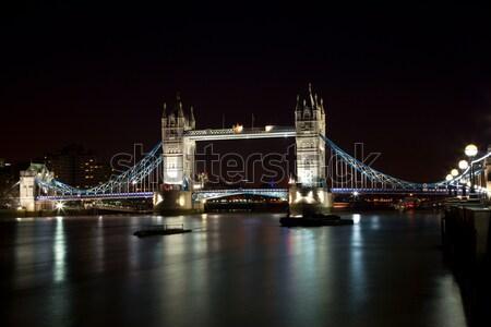 London bridge nuit affaires eau nuages bâtiment Photo stock © tommyandone