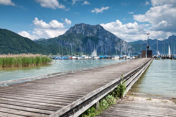美しい 湖 オーストリア 近い 水 風景 ストックフォト © tommyandone