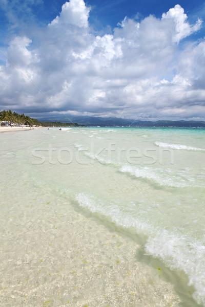 White beach in Boracay Stock photo © tommyandone