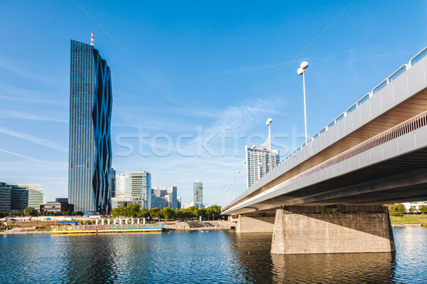 Vienna skyline on the Danube river Stock photo © tommyandone