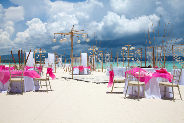 Beach wedding setup  Stock photo © tommyandone