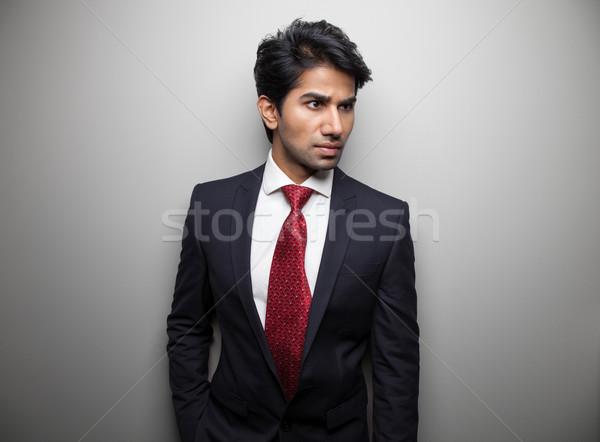Ambicioso asiático empresário boa aparência homem moda Foto stock © tommyandone