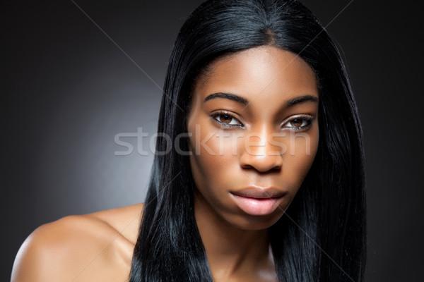 Zwarte schoonheid perfect huid jonge hand Stockfoto © tommyandone