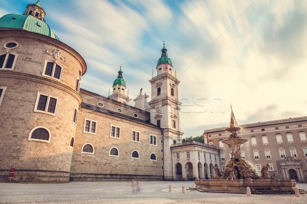 Catedral Austria la exposición a largo famoso puesta de sol paisaje Foto stock © tommyandone
