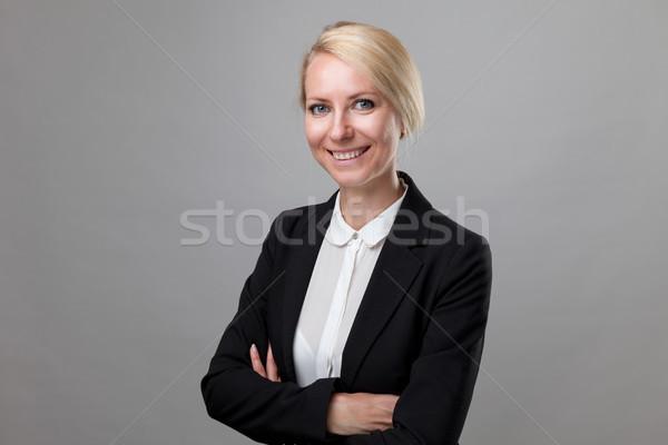 Genç iş kadını takım elbise mutlu iş kadın Stok fotoğraf © tommyandone