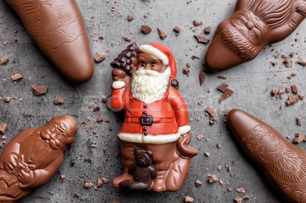 Delicioso natal chocolate doces rústico Foto stock © tommyandone