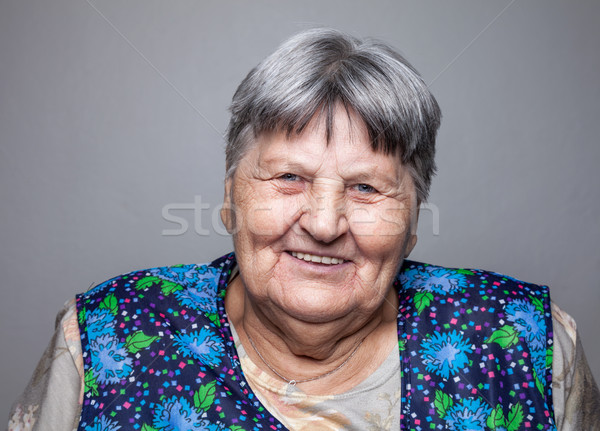 Portrait of an elderly woman Stock photo © tommyandone