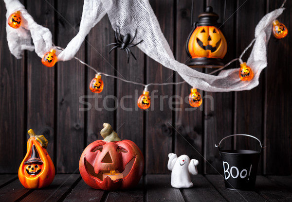 Stock photo: Traditional scary halloween holiday background