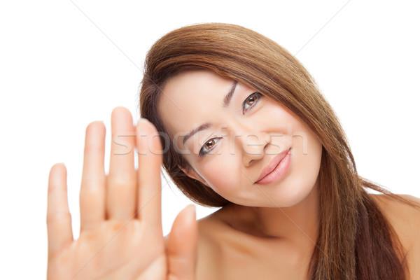 Thai beauté parfait peau isolé blanche Photo stock © tommyandone